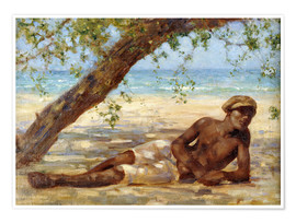 Póster  Samuel under a Tree - Henry Scott Tuke