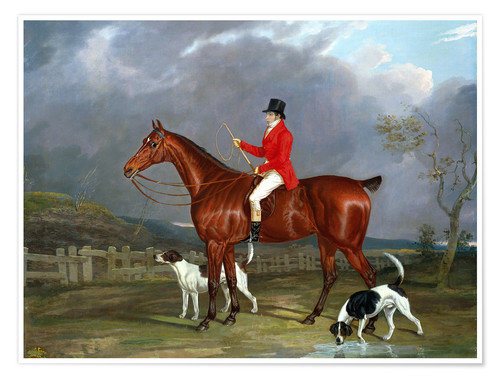 Póster A Huntsman and Hounds, 1824