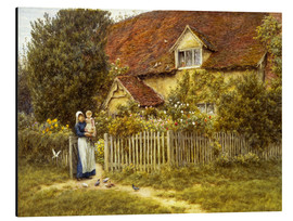 Cuadro de aluminio  Mother and child on lodge - Helen Allingham