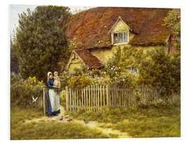 Cuadro de PVC  Mother and child on lodge - Helen Allingham