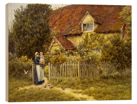 Madera  Mother and child on lodge - Helen Allingham