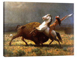 Lienzo  The Last of the Buffalos - Albert Bierstadt