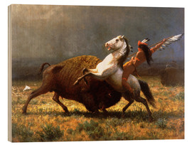 Cuadro de madera  The Last of the Buffalos - Albert Bierstadt