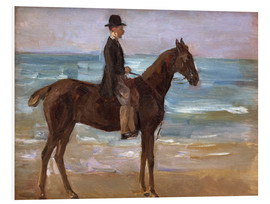 Cuadro de PVC  A Rider on the Shore - Max Liebermann