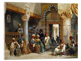 Metacrilato  Arabic Figures in a Coffee House - Carl Friedrich Heinrich Werner
