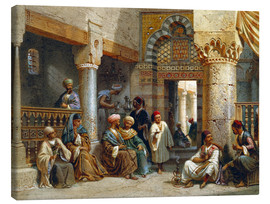 Lienzo  Arabic Figures in a Coffee House - Carl Friedrich Heinrich Werner