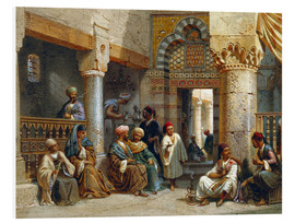 Cuadro de PVC  Arabic Figures in a Coffee House - Carl Friedrich Heinrich Werner