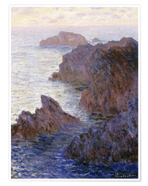 Póster  Point de Rochers, Port-Goulphar - Claude Monet