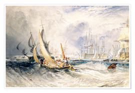 Póster  Gosport: The Entrance to Portsmouth Harbour - Joseph Mallord William Turner
