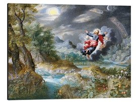 Cuadro de aluminio  God creating the sun, the moon and the stars in the Firmament - Jan Brueghel d.Ä.