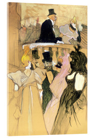Cuadro de metacrilato  At the Opera Ball - Henri de Toulouse-Lautrec