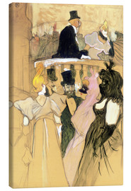 Lienzo  At the Opera Ball - Henri de Toulouse-Lautrec