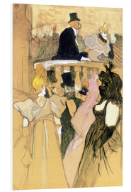 Cuadro de PVC  At the Opera Ball - Henri de Toulouse-Lautrec
