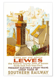 Póster  Come see and admire Lewes - Gregory Brown