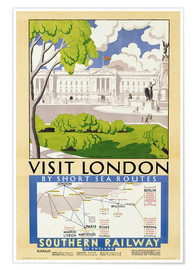 Póster  'Visit London', poster advertising Southern Railway, 1929 - English School