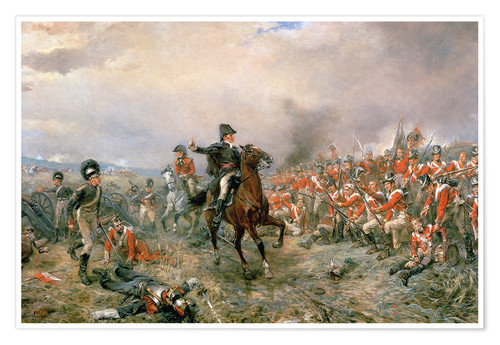 Póster The Duke of Wellington at Waterloo