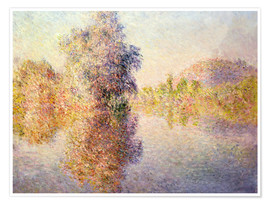 Póster  Early Morning on the Seine at Giverny - Claude Monet