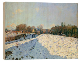 Cuadro de madera  Snow at Argenteuil - Alfred Sisley
