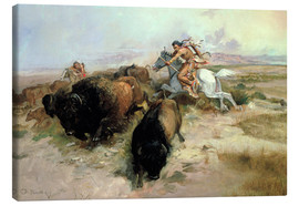 Lienzo  Buffalo Hunt, 1897 - Charles Marion Russell