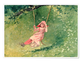 Póster Girl on a Swing