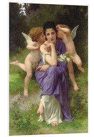 Cuadro de PVC  Chansons de Printemps, 1889 - William Adolphe Bouguereau
