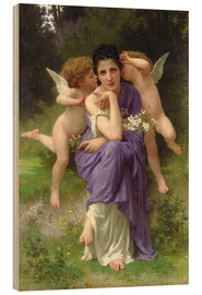 Cuadro de madera  Chansons de Printemps, 1889 - William Adolphe Bouguereau