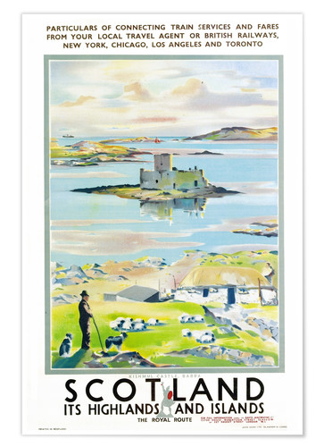 Póster Scotland, it's Highlands and Islands