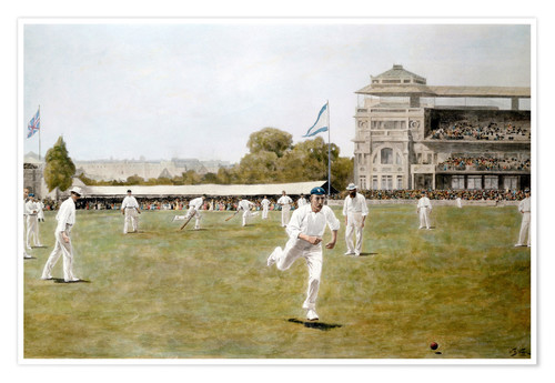 Póster Cricket at Lords, 1896