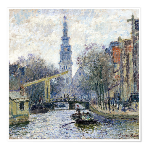 Póster Canal a Amsterdam