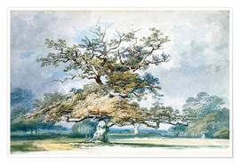 Póster  A Landscape with an Old Oak Tree - Joseph Mallord William Turner