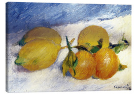 Lienzo  Still Life with Lemons and Oranges - Pierre-Auguste Renoir
