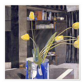 Póster Yellow Tulips
