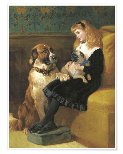 Póster Her only Playmates, 1870