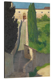 Aluminio-Dibond  The Steps of the Convent of San Marco, Perugia, 1913 - Felix Edouard Vallotton