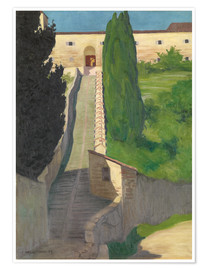 Póster  The Steps of the Convent of San Marco, Perugia, 1913 - Felix Edouard Vallotton