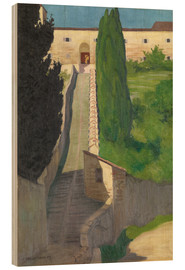 Madera  The Steps of the Convent of San Marco, Perugia, 1913 - Felix Edouard Vallotton