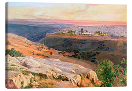 Lienzo  Jerusalem from the Mount of Olives - Edward Lear