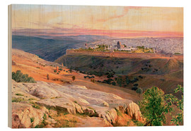 Cuadro de madera  Jerusalem from the Mount of Olives - Edward Lear