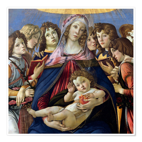 Póster Madonna and Child and Six Angels