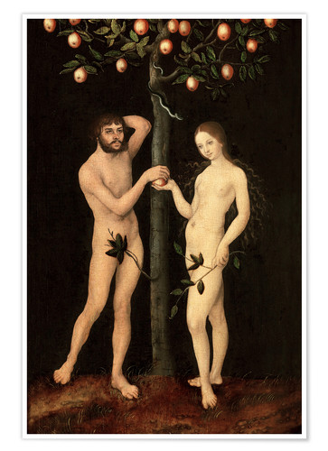 Póster Adam and Eve