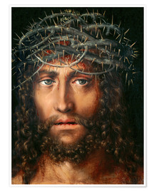 Póster Christ with Crown of Thorns