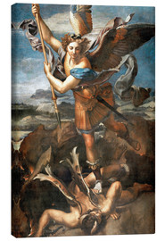 Lienzo  St.Michael kills the demon - Raffael