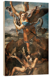 Madera  St.Michael kills the demon - Raffael
