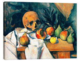 Lienzo  Nature morte au crane - Paul Cézanne