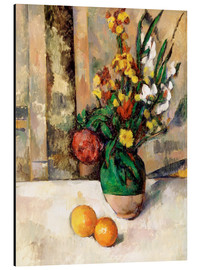 Cuadro de aluminio  Vase and apples - Paul Cézanne