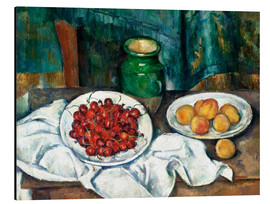 Cuadro de aluminio  Cherries and peaches - Paul Cézanne