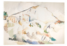 Cuadro de metacrilato  The Château Noir and Sainte-Victoire mountains - Paul Cézanne