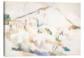 Lienzo  The Château Noir and Sainte-Victoire mountains - Paul Cézanne