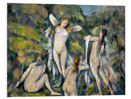 Cuadro de PVC  Four Bathers - Paul Cézanne