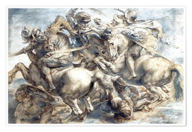 Póster Battle of Anghiari, sketch
